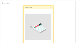 Draw a song