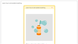 Learn how to do bubble breathing