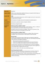 Trailblazers: teacher notes for the theme