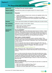 Explore 3 The Ring of Fire and volcanic eruptions: teacher's notes