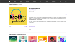 Podcast: Don't do it alone (Apple)
