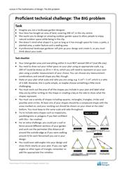 Lesson 4 The mathematics of design: Big problem brief (proficient)