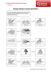 Lesson 7 Energy efficiency: power generation worksheet