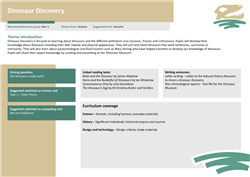 Dinosaur discovery: theme overview