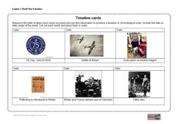 Explore 2 World War II timeline: Timeline cards