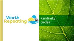 Explore 15 Kandinsky circles: teaching slides