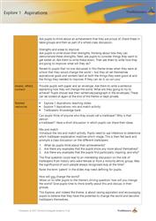 Explore 1 Aspirations teacher notes