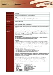 Explore 1 Chronology: teacher notes
