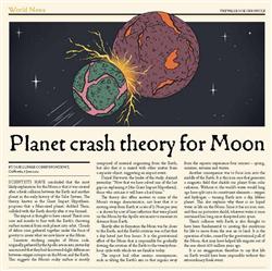 Explore 4 Slide 5 Planet crash theory for Moon