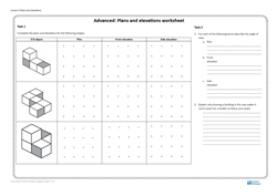 Lesson 5 Plans and elevations: worksheet (advanced)
