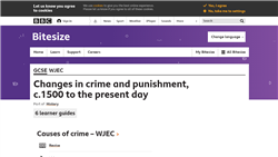 Changes in crime and punishment, c.1500 to the present day