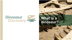 Explore 1 What is a dinosaur?: teaching slides
