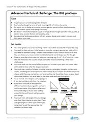 Lesson 4 The mathematics of design: Big problem brief (advanced)