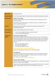 Explore 4 The Wright brothers: teacher notes