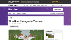 Timeline: changes in tourism