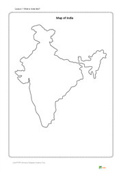 Lesson 1 What is India like?: map of India