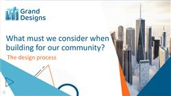 Lesson 1 The design process: teaching slides