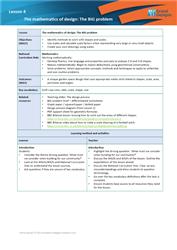 Lesson 4 The mathematics of design: teacher's notes