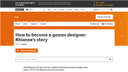 How to become a games designer: Rhianne's story