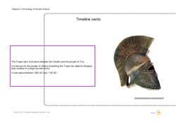 Explore 2 Chronology of Ancient Greece: timeline cards