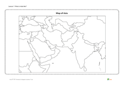 Lesson 1 What is India like?: map of Asia