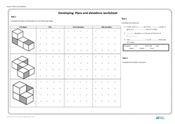 Lesson 5 Plans and elevations: worksheet (developing)