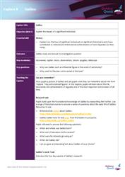 Explore 8 Galileo: teacher notes
