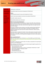 Blitz: teacher's notes