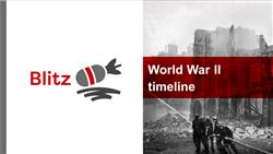Explore 2 World War II timeline: teaching slides
