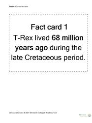 Explore 2 Dinosaur detectives: cut out fact cards