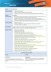 Lesson 10 Web design: teacher's notes