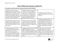 Lesson 2: Why is William significant? Worksheet