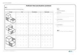 Lesson 5 Plans and elevations: worksheet (proficient)