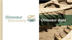 Explore 3 Dinosaur diets: teaching slides