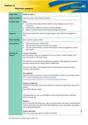 Explore 12 Rhythmic patterns: teacher's notes
