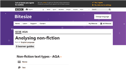 Analysing non-fiction