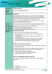 Explore 5 Features of the UK: teacher's notes